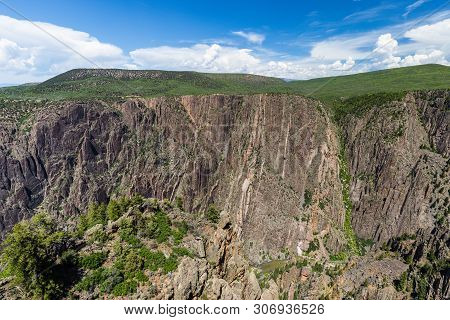 Gunnison Point In Black Canyon Of The Gunnison National Park In Colorado, United States