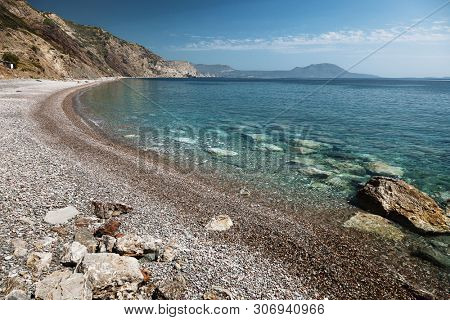 Fyrí Ámmos beach in Kythira island, Ionian, Greece
