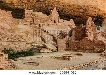 Long House In Mesa Verde National Park In Colorado, United States