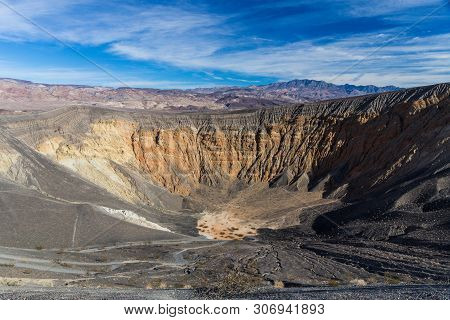 Ubehebe Crater In Death Valley National Park In California, United States