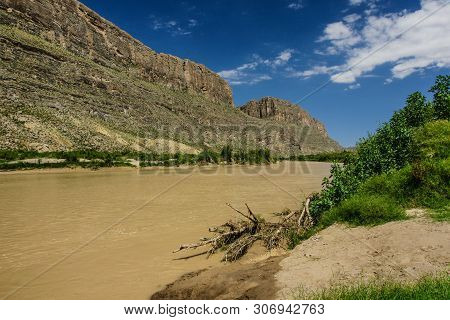 Rio Grande River In Big Bend National Park In Texas, United States
