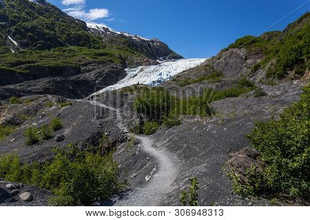 Exit Glacier In Kenai Fjords National Park In Alaska, United States