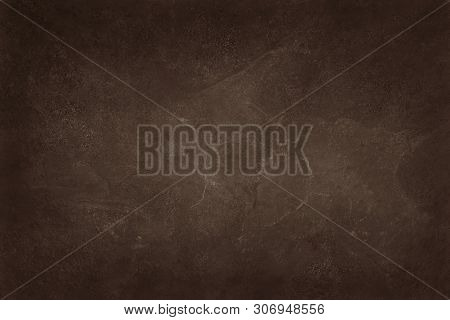 Dark Brown Slate Texture In Natural Pattern With High Resolution For Background And Design Art Work.