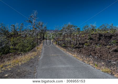 Mauna Loa Road In Hawaii Volcanoes National Park In Hawaii, United States
