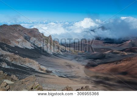 Summit Visitor Center Views In Haleakala National Park In Hawaii, United States