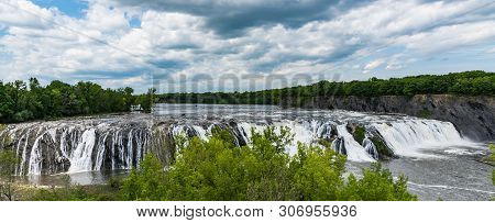 Cohoes Falls In Falls View Park, Cohoes, New York, United States