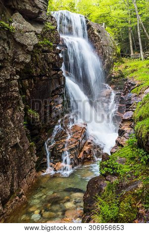 Avalanche Falls, Flume Gorge, Franconia Notch State Park, New Hampshire, United States
