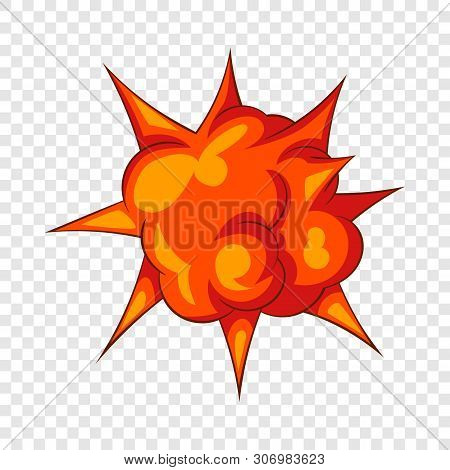 Blast With Fire Icon. Cartoon Illustration Of Blast With Fire Vector Icon For Web