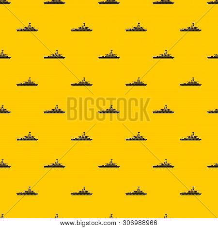Military Warship Pattern Seamless Vector Repeat Geometric Yellow For Any Design