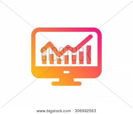 Statistics Icon. Data Analysis Sign. Business Strategy. Classic Flat Style. Gradient Statistics Icon