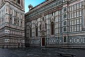 Duomo di Firenze Cathedral, Florence Cathedral, Florence, Italy, Europe, in front of white background poster