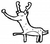 xmas reindeer cartoon poster