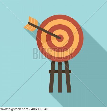 Life Skills Arch Target Icon. Flat Illustration Of Life Skills Arch Target Vector Icon For Web Desig