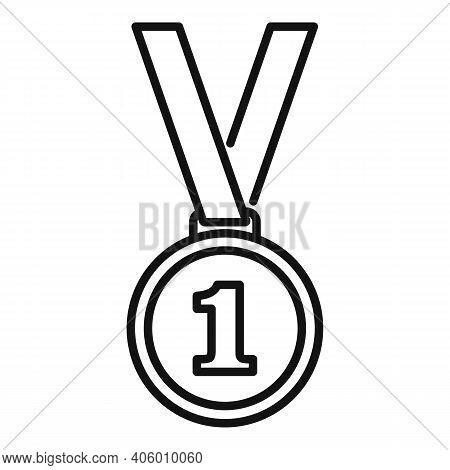 Life Skills Gold Medal Icon. Outline Life Skills Gold Medal Vector Icon For Web Design Isolated On W