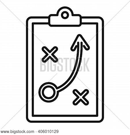 Life Skills Tactical Board Icon. Outline Life Skills Tactical Board Vector Icon For Web Design Isola