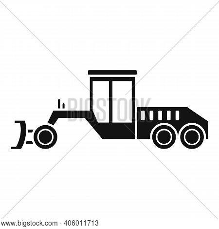 Grader Machine Utility Icon. Simple Illustration Of Grader Machine Utility Vector Icon For Web Desig