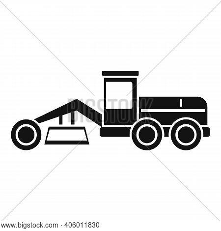 Grader Machine Building Icon. Simple Illustration Of Grader Machine Building Vector Icon For Web Des