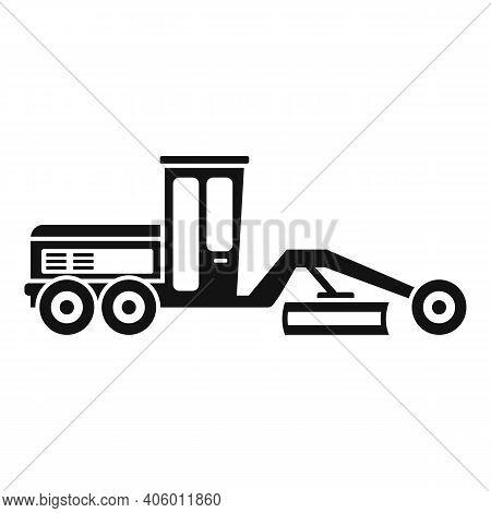 Grader Machine Bulldozer Icon. Simple Illustration Of Grader Machine Bulldozer Vector Icon For Web D