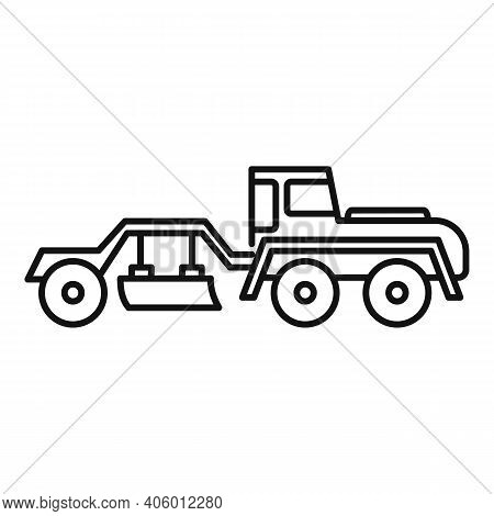 Grader Machine Utility Icon. Outline Grader Machine Utility Vector Icon For Web Design Isolated On W