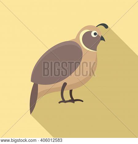 Quail Icon. Flat Illustration Of Quail Vector Icon For Web Design