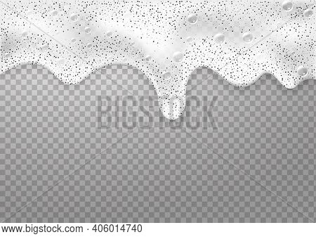 Bath Foam Background. Shampoo Bubbles Texture.sparkling Shampoo And Bath Lather .