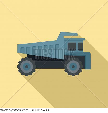 Tipper Lorry Icon. Flat Illustration Of Tipper Lorry Vector Icon For Web Design