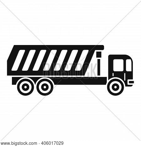 Tipper Building Icon. Simple Illustration Of Tipper Building Vector Icon For Web Design Isolated On