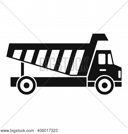 Tipper Commercial Icon. Simple Illustration Of Tipper Commercial Vector Icon For Web Design Isolated