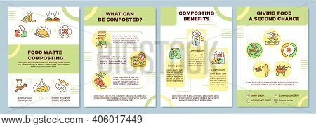 Food Waste Composting Brochure Template. What Can Be Composted. Flyer, Booklet, Leaflet Print, Cover