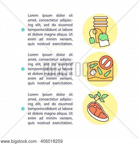 What Can Be Composted Concept Icon With Text. Food Waste Composting Modern Process Creation. Ppt Pag