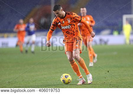 Cristiano Ronaldo Of Juventus Fc  During The Serie A Match Between Uc Sampdoria And Juventus Fc At S