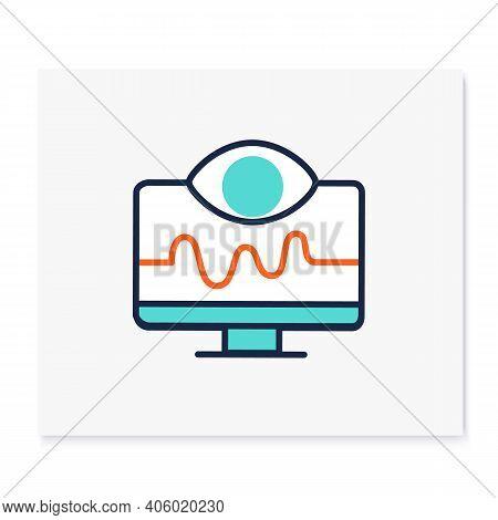 Remote Health Monitoring Color Icon. Telehealth Medical Care. Virtual Medical Consultation. Telemedi