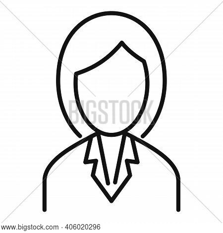 Foreign Language Woman Teacher Icon. Outline Foreign Language Woman Teacher Vector Icon For Web Desi