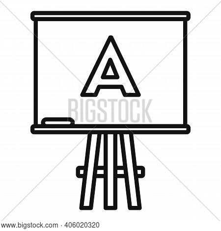 Foreign Language Board Study Icon. Outline Foreign Language Board Study Vector Icon For Web Design I