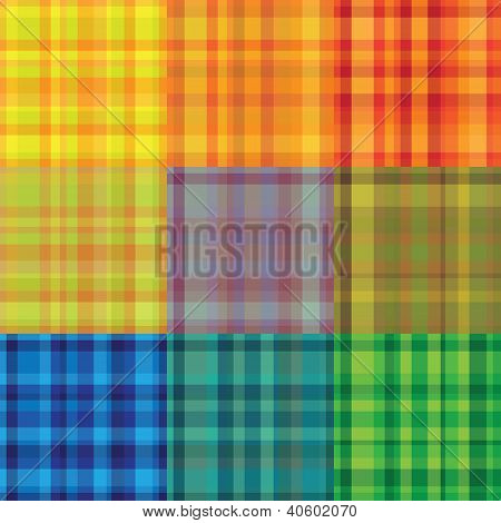 seamless retro colourful plaid stroke pattern
