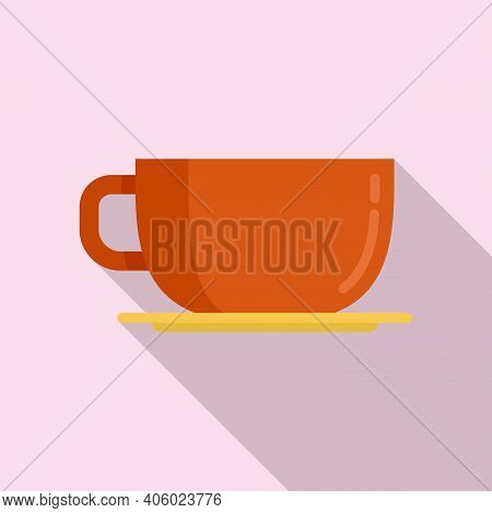 Coffee Cup Icon. Flat Illustration Of Coffee Cup Vector Icon For Web Design