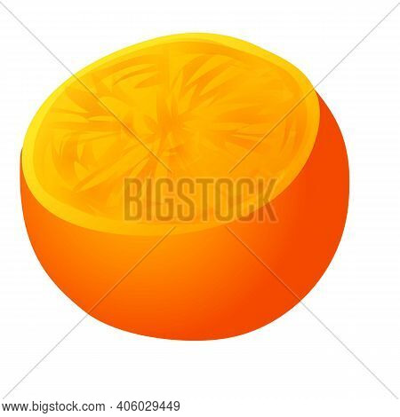 Persimmon Icon. Cartoon Of Persimmon Vector Icon For Web Design Isolated On White Background