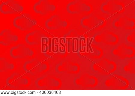 Bright Red Background With Embossed Clouds. Festive Backdrop