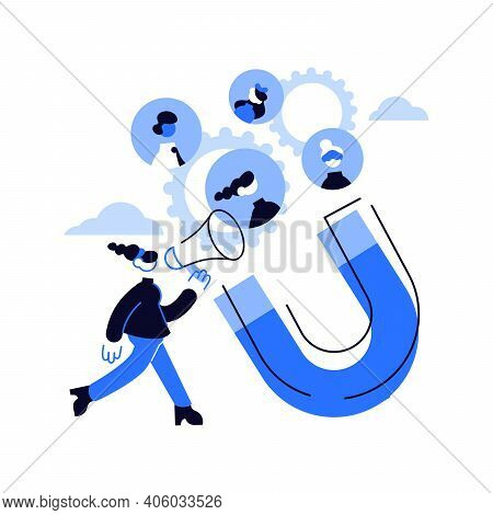 Find Leads Abstract Concept Vector Illustration. Generate Sales