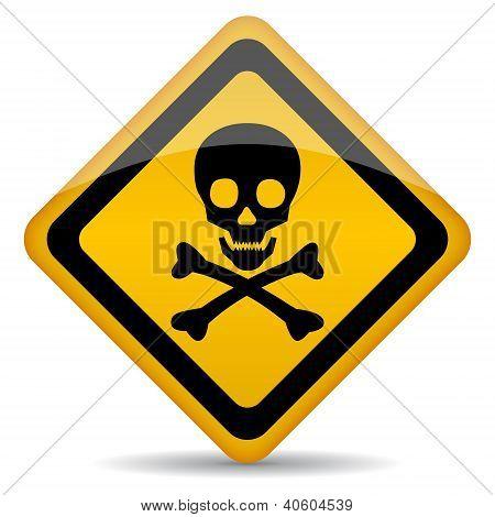 Skull vector rhombus sign
