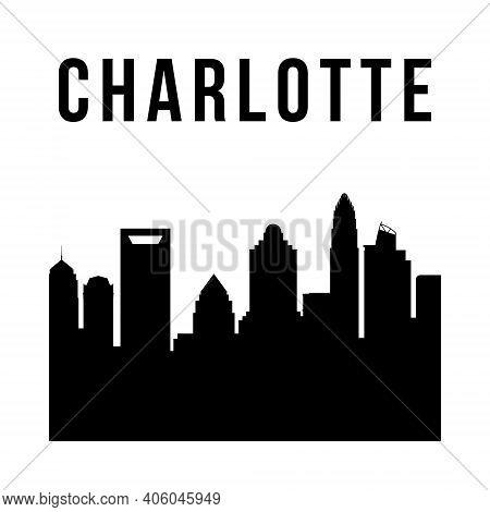 Charlotte City Simple Silhouette. Modern Urban Background. Vector Skyline.