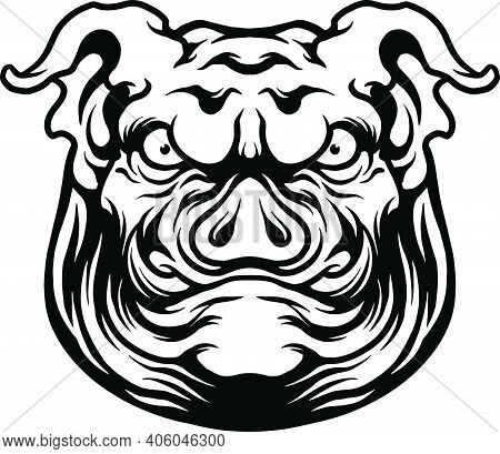 Angry Big Pig Mascot Silhouette Illustrations For Your Work Logo, Mascot Merchandise T-shirt, Sticke