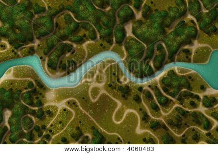 Bird'S Eye View Of A Biking Hiking Trail