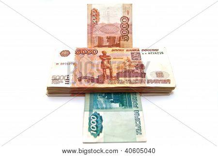 Money Printing Machine. Russian Banknotes