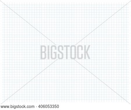 Dotted Square Paper Surface Grid Vector Illustration. Squared Texture Cage Mathematics Background. S