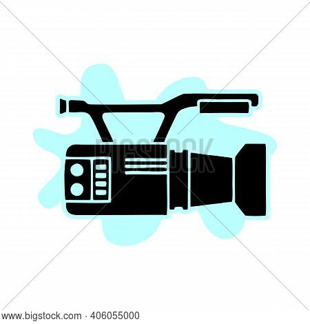 Video Camera Vector Icon.black Vector Icon Isolated On White Background Video Camera.