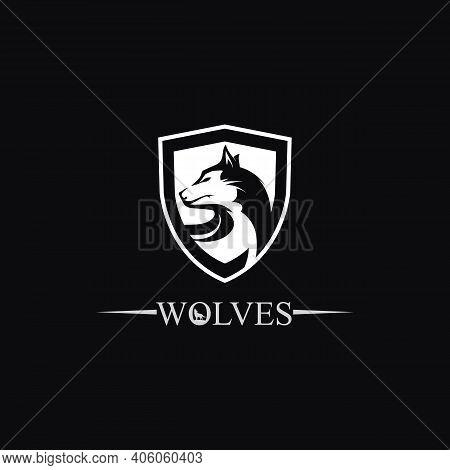 Wolves Logo, Fox, Wolf Head, Animal Vetor And Logo Design Wild  Roar Dog Illustration, Abstract For