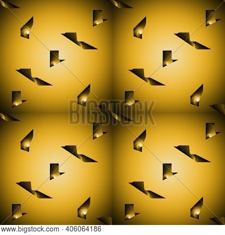 Abstract Pattern Design In Yellow Gradient Colors, Background And Texture
