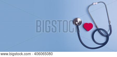 World Heart Day Banner Background. Heart As A Symbol Of Health, Treatment, Charity, Donation And Car