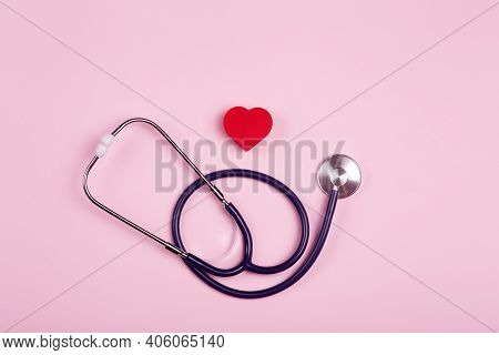 World Heart Day Background. Heart As A Symbol Of Health, Treatment, Charity, Donation And Cardiology